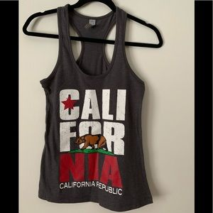 California black and gray with the logo tank top S